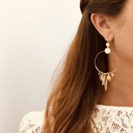 Boucles d'oreilles GIPSY / coloris Rose Gold Doré