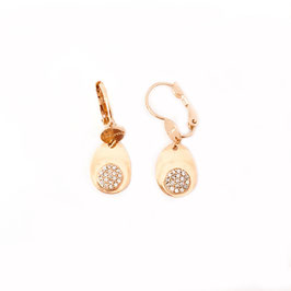 Boucles d'oreilles KATIA / Blanc Doré