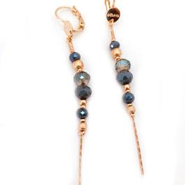 Boucles d'oreilles ANNABELLE / Bleu d'hiver