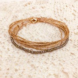 Bracelet LÉO / Kaki Doré