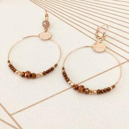 Boucles d'oreilles CHLOE / Coloris Marron Camel