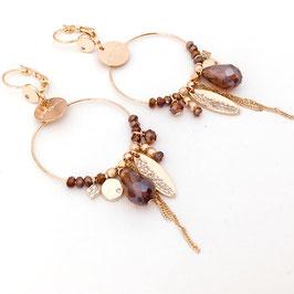 Boucles d'oreilles VALENTINA / Marsala