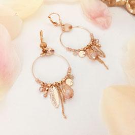 Boucles d'oreilles VALENTINA / Champagne