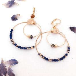 Boucles d'oreilles OLIVIA / Indigo