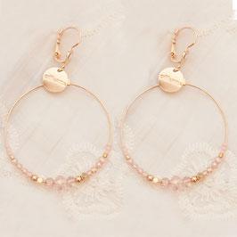 Boucles d'oreilles CHLOE / Coloris Rose poudré