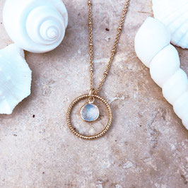 Collier LOLA / Blanc opal