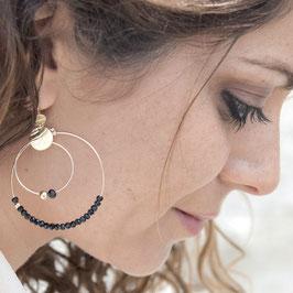 Boucles d'oreille OLIVIA / Coloris Gris Polaire