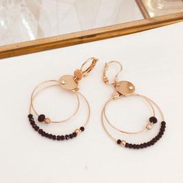 Boucles d'oreilles MINI OLIVIA / Noir