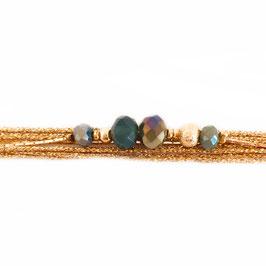 Bracelet ALEX / Vert Tropique Doré