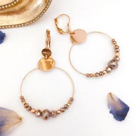 Boucles d'oreille MINI CHLOÉ / Pyrite