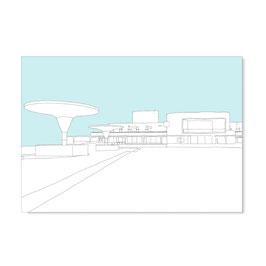 """Postkarte """"Staatstheater, gezeichnet"""""""