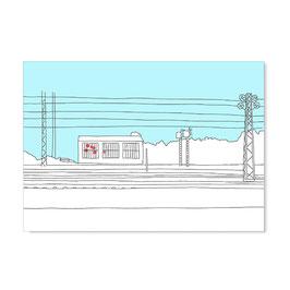 """Postkarte """"Weststadtcafé, gezeichnet"""""""