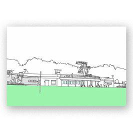 """Postkarte """"Mühltalbad Eberstadt, gezeichnet"""""""