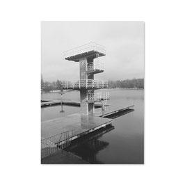 "Postkarte ""Sprungturm am Woog"", Fotografie"