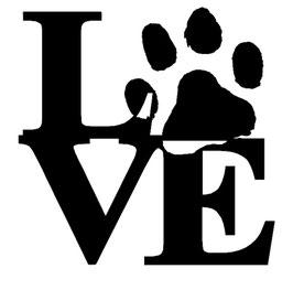 LOVE Pfote - 20 cm