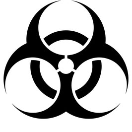Biohazard - 2 Stück - 7,5 cm