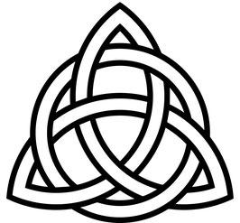 Triquetra - Celtic - 15 cm
