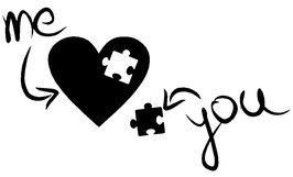 Me and You Puzzle Herz