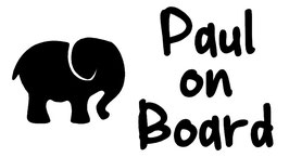 Baby on Board Aufkleber Elefant mit Wunschname