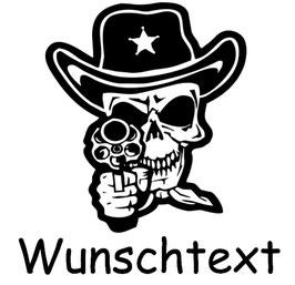 Totenkopf Sheriff mit Wunschtext