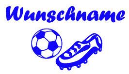 Fußball + Schuh mit Wunschname