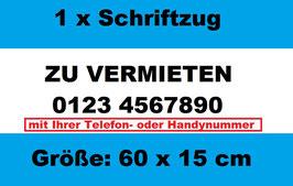 Zu Vermieten mit Handynummer