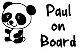 Baby on Board Aufkleber Panda mit Wunschname