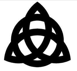 Triquetra, fett - Celtic - 15 cm