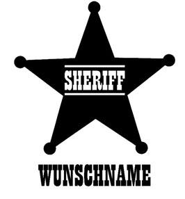 Sheriff-Stern mit Wunschname