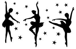 Ballerinen mit Sterne