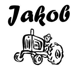 Traktor mit Wunschname