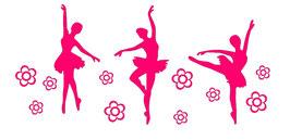 Ballerinen mit Blumen