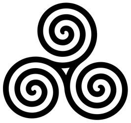 Triskele - Celtic - 10 cm