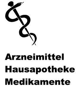 Arznei-Symbol mit Beschriftung