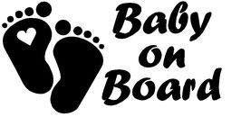 Baby on Board Aufkleber Herz mit Wunschname