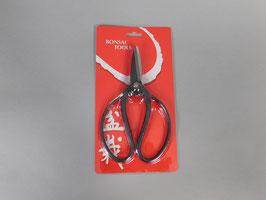 Schere breit, schwarzer Stahl, 19cm