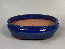 Schale China, blau, oval