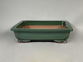 Schale China, grün, rechteckig