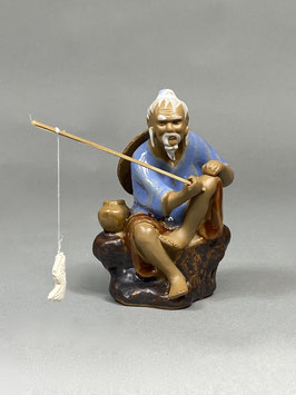 Figur Angler aus Ton