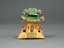 Figur Tempel aus Ton