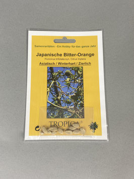 Japanische Bitter-Orange, Poincirus trifoliata syn. Citrus triptera, Geschenkidee, Seltene Samen, Besonderheit, Rarität