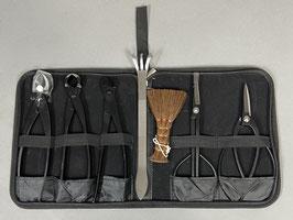 Werkzeugetui mit 7 Werkzeugen Schwarzer Stahl