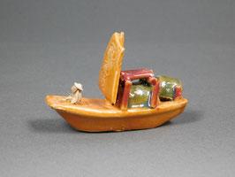 Figur Segelboot aus Ton