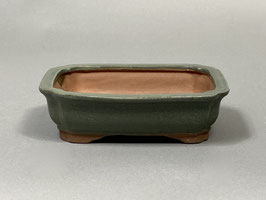 Schale China, matt-grün, rechteckig