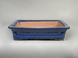 Schale China, blau, rechteckig