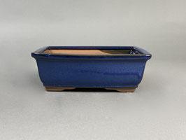 Schale China, creme, blau, rechteckig