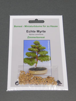 Echte Myrte, Myrtus communis, Zimmerbonsai, Geschenkidee, Bonsai-Samen