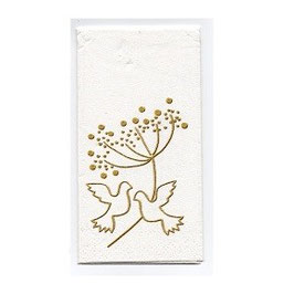 "Wedding Hankies ""Turtle Doves"""