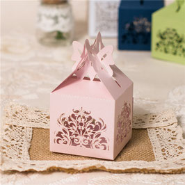 #K Lasercut Schachtel , rosé oder ivory shimmer