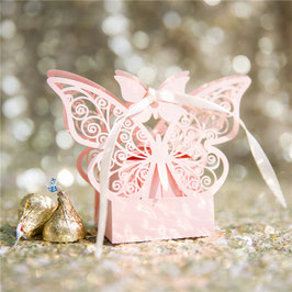 "#B Lasercut ""Schmetterling"" Schachtel, pink shimmer"